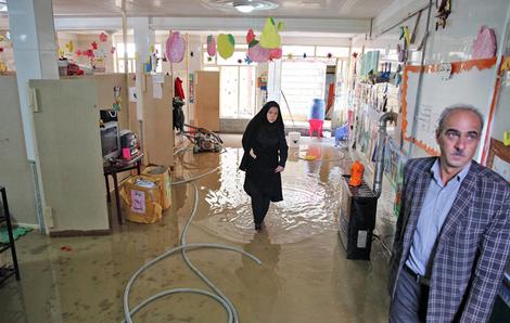 (تصاویر) خسارات سیل در روستای«بیرق»