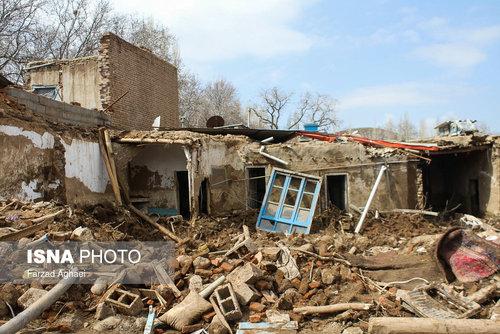 روستای چنار شهرستان عجب شیر 2 روز پس از سیلاب (عکس)