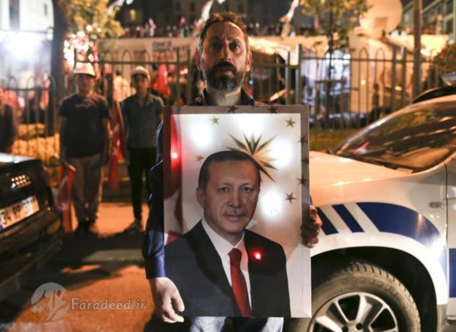 (تصاویر) اردوغان در جشن پیروزی