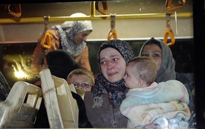 حرکت ۳ هزار نفر دیگر از اهالی کفریا و فوعه به سمت« حلب »