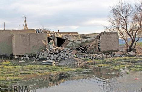 تصاویر/ خسارات سیل در شهرستان نقده