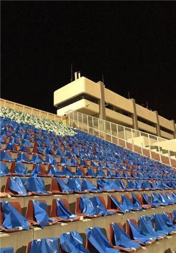الهلال ورزشگاه را آبیپوش کرد (عکس)
