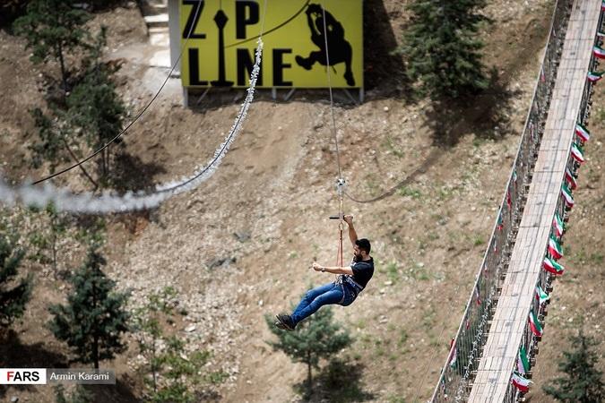 تصاویر: افتتاح زیپ لاین و پل معلق برج میلاد