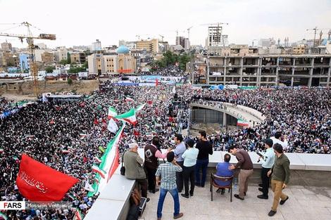 (تصاویر) همایش حامیان رئیسی در مشهد