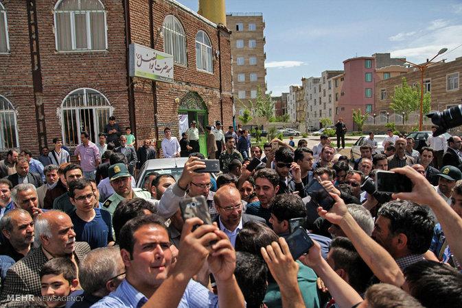 گزارش تصویری: حضور محمدباقر قالیباف در انتخابات