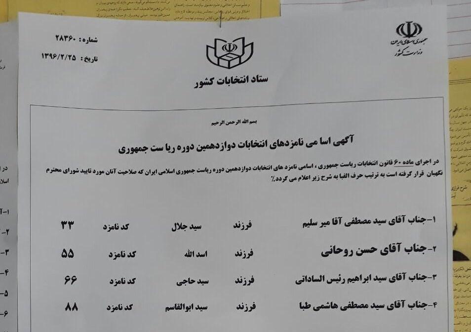 تخلف آشکار ستاد انتخابات در حمایت از روحانی +سند