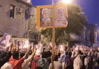 تظاهرات کفنپوشان بحرینی همزمان با قرائت حکم شیخ عیسی قاسم