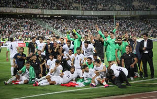 دیدار کیروش و اعضای تیمملی فوتبال با روحانی