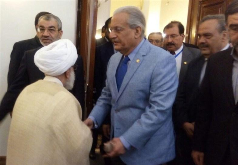 دیدار رئیس مجلس پاکستان با آیتالله جنتی +عکس
