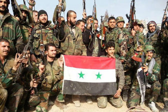 هلی برن نیروهای سوری پشت خطوط داعش