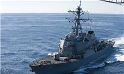 تصادف ناو آمریکایی با یک کشتی تجاری