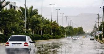 بارش باران و ترافیک در جاده های شمالی