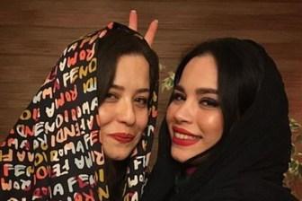 شوخی جالب ملیکا شریفی نیا با خواهرش+عکس