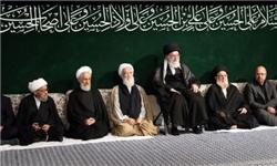 عزاداری حضرت اباعبدالله الحسین(ع) در حضور رهبر انقلاب برگزار شد
