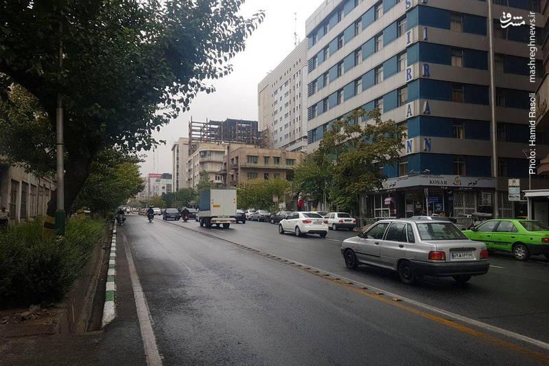 بارش باران در پایتخت+عکس