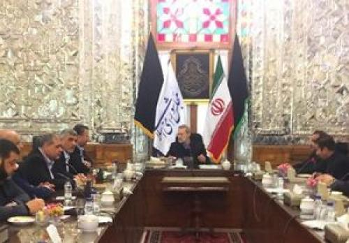 دیدار مقام جنبش حماس با لاریجانی