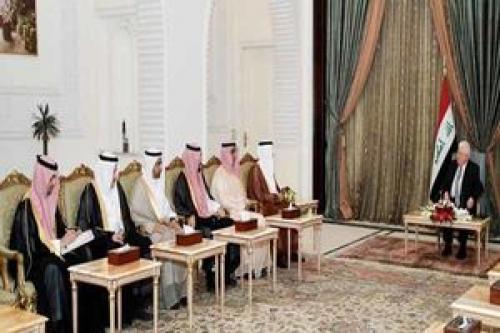 پیام ملک سلمان برای رئیس جمهور عراق