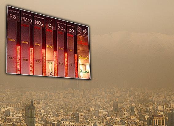 آلودگی هوای تهران به روز نهم رسید/ گرد و غبار هم به دیگر آلایندگیهای تهران اضافه شد