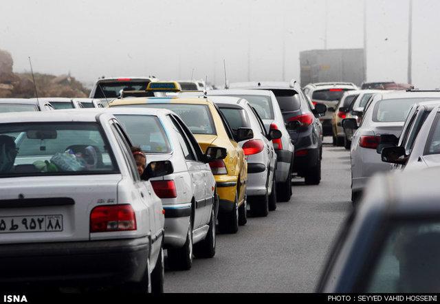 ترافیک نیمه سنگین و پرحجم در مسیرهای برگشت زائران اربعین