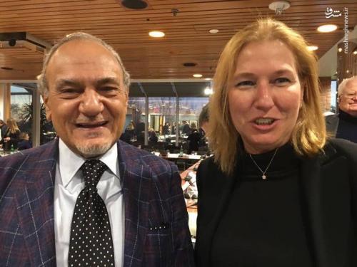 عکس یادگاری امیر فیصل با زن بدنام اسرائیلی