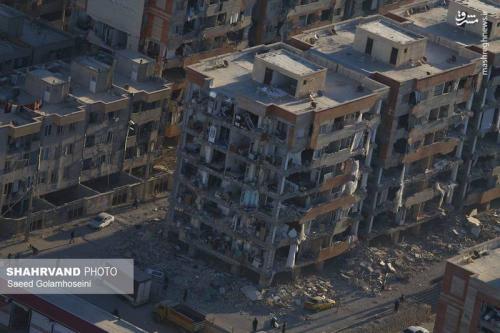 عکس هوایی از خسارات مسکنمهر سرپلذهاب