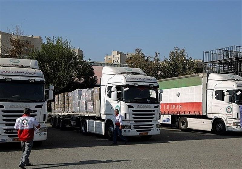 ۷۰ کامیون کمکهای استان لرستان به کرمانشاه ارسال شد