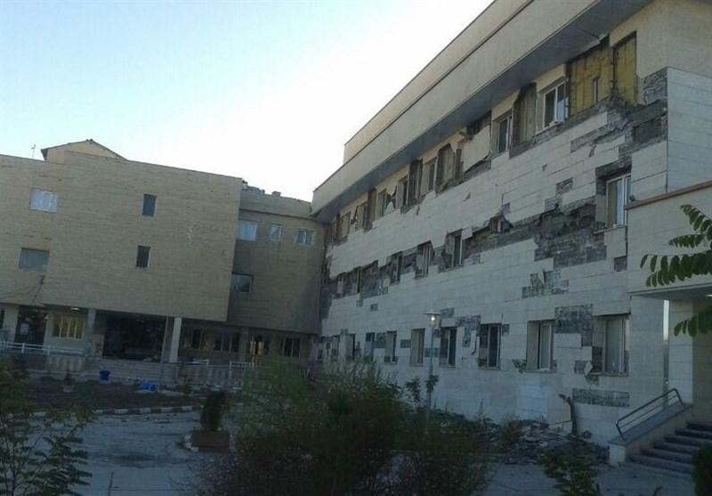 تخریب بیمارستان تازهساز اسلامآباد غرب در زلزله / از افتتاح انتخاباتی تا کوتاهی پیمانکار؛ مقصر کیست؟
