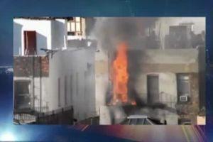 آتش سوزی مهیب یک ساختمان در نیویورک