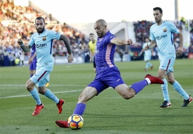 برتری آسان بارسلونا در زمین لگانس