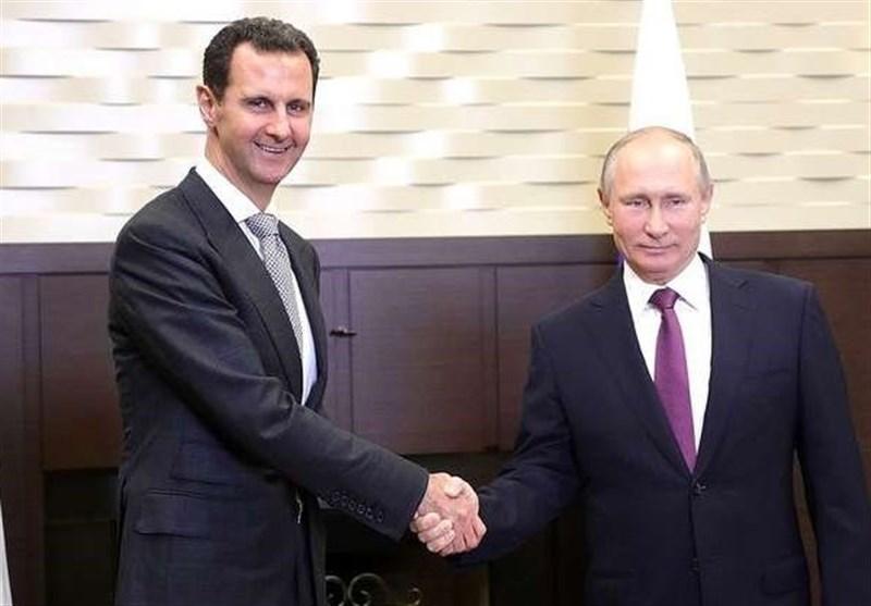 دیدار اسد با پوتین در شهر سوچی
