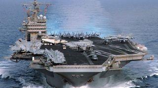 ورود ناو هواپیمابر آمریکا به خلیج فارس