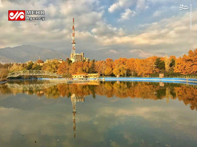 نمای زیبای پاییزی از پارک ملت تهران+عکس