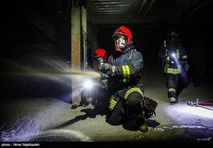 ادامه آتشسوزی کارگاههای بزرگراه آزادگان