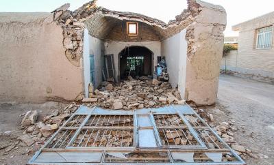 عکس:مناطق زلزلهزده شهرستان کوهبنان