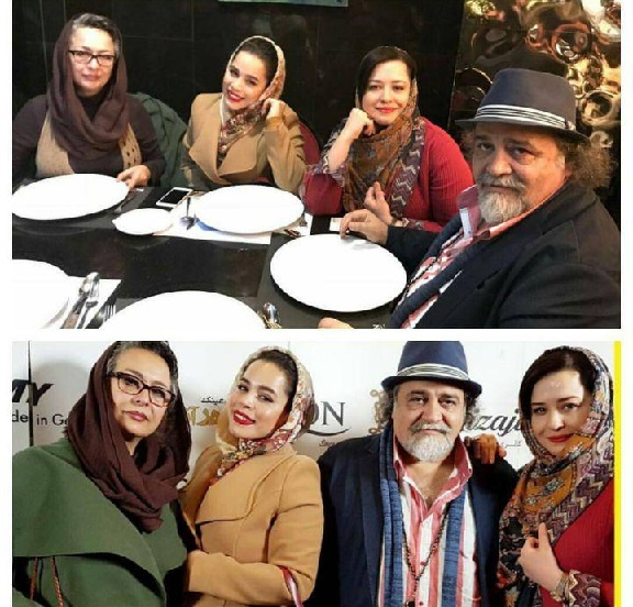 شریفی نیا و همسرسابقش سر یک میز +عکس