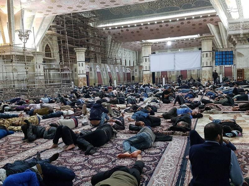 وضعیت اسکان مردم تهران در حرم امام خمینی(ره)+عکس
