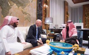 دیدار رئیس فیفا با ولیعهد عربستان در ریاض