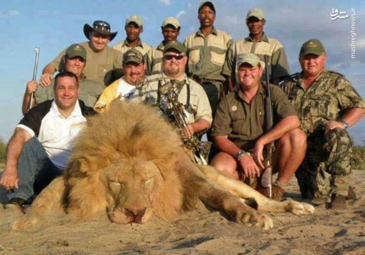 عکس یادگاری شکارچیان با سلطان