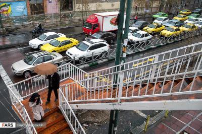 بارش باران در تهران+گزارش تصویری