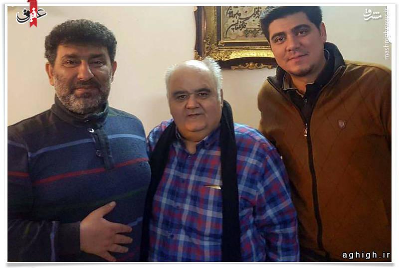 عکس/ اکبر عبدی به عیادت حاج سعید رفت