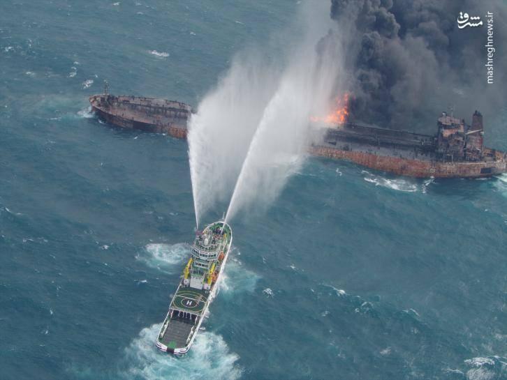 تصویر هوایی جدید از نفتکش ایرانی