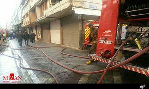 وقوع آتشسوزی در پاساژ کوچه برلن تهران