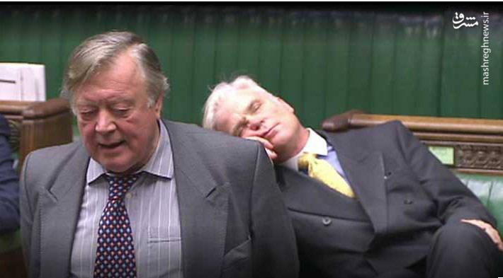 عکس/ خواب عمیق یک نماینده در مجلس