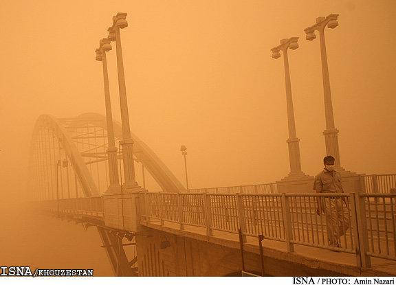 غلظت گرد و غبار اهواز بیش از 66 برابر حد مجاز