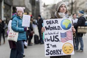 راهپیمایی مجدد زنان علیه ترامپ در سراسر آمریکا+ تصاویر