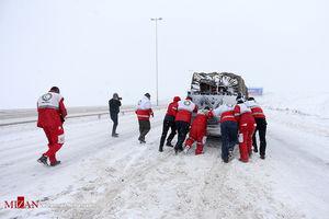 آخرین آمار امدادرسانی به شهروندان گرفتار در برف و کولاک