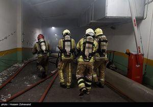 آخرین وضعیت اطفای حریق در ساختمان برق حرارتی