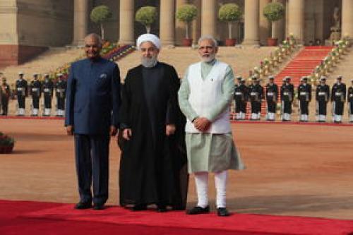 استقبال رسمی رئیس جمهور و نخست وزیر هند از روحانی