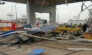 انفجار شدید در پمپ گاز بزرگراه فتح