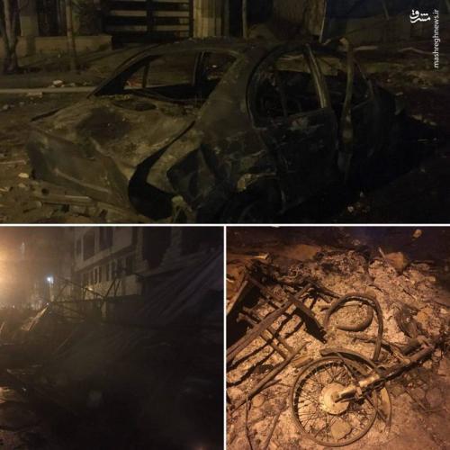 خسارات دراویش گنابادی به اموال مردم در شب گذشته+عکس